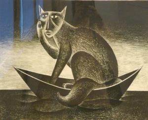 Кошка в лодке в Витебске