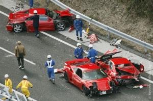 В Японии произошло самое дорогое ДТП