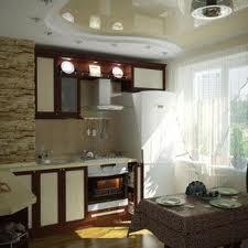 Натяжной потолок - лучший материал для кухонного потолка