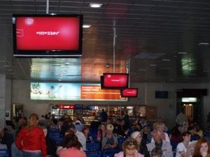 В Минске аэропорт установил сенсорные экраны для туристов